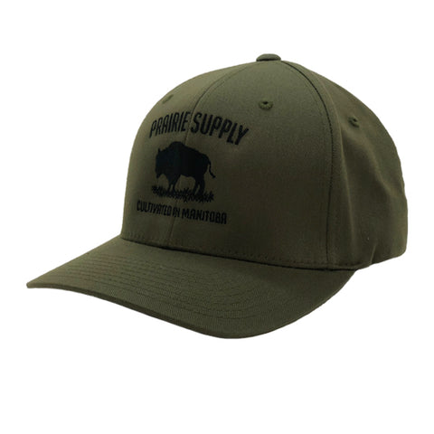 Prairie Supply Co. Unisex Hats - Cultivated Flexfits - Olive
