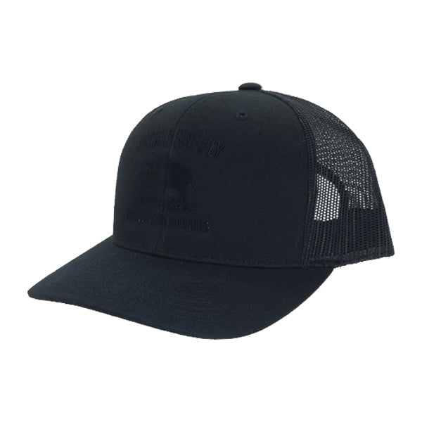 Prairie Supply Co. Unisex Hats - Cultivated Snapback - Black