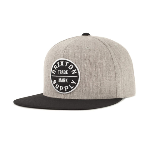 Brixton Men's Hats - Oath lll Snapback - Heather Grey/Black