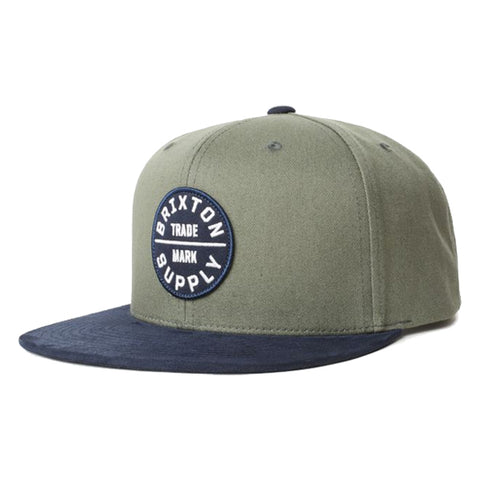 Brixton Men's Hats - Oath lll Snapback - Cypress/Washed Navy