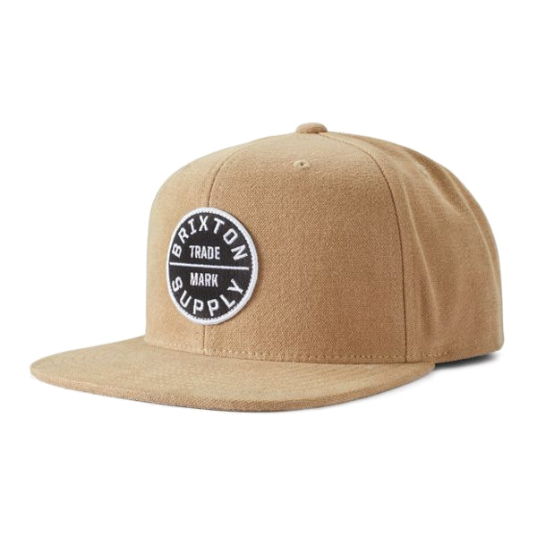 Brixton Men's Hats - Oath lll Snapback - Dark Khaki/Black