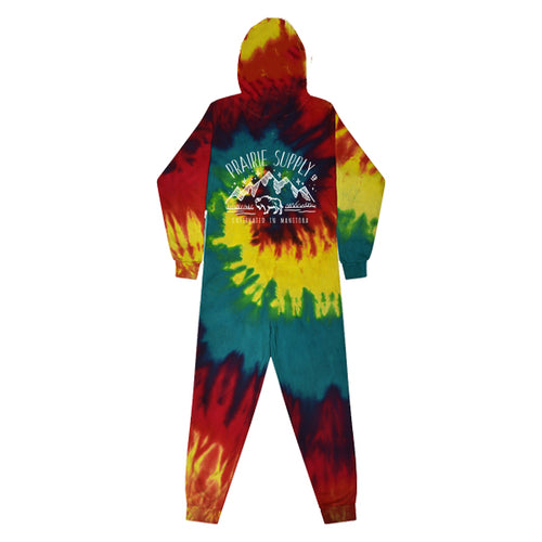 Prairie Supply Co. Adult Unisex Onesies - Cultivated Mountain - Reactive Rainbow/White