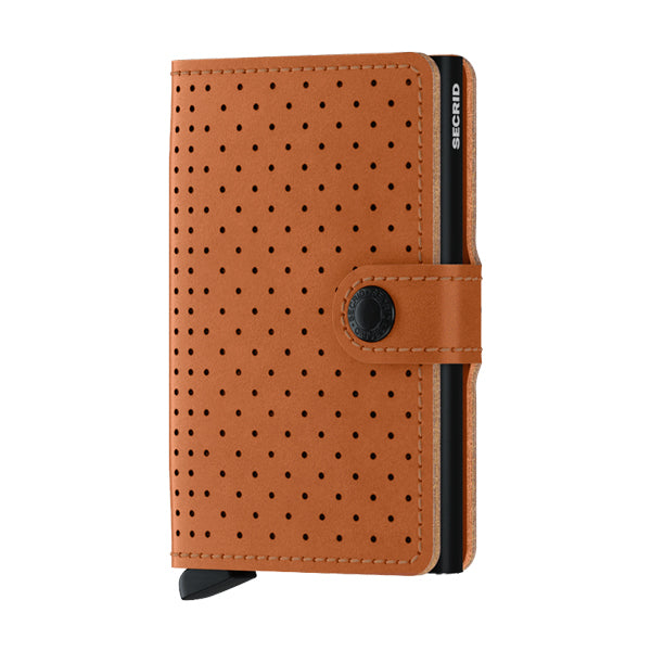Secrid Unisex Wallets - Miniwallet - Perforated Cognac