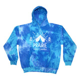 Prairie Supply Co. Unisex Hoodies - Pitch a Tent Pullover - Multi Blue/White