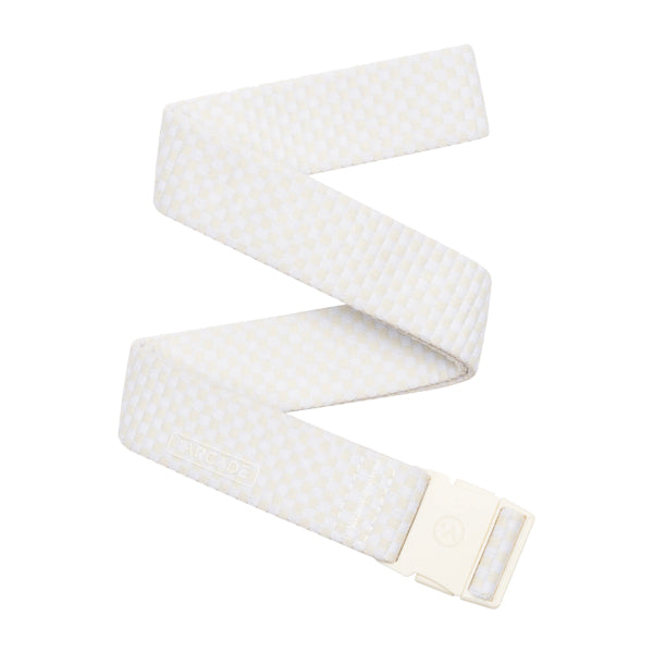 Arcade Belts Unisex Belts - Pronto Slim - Cream/White