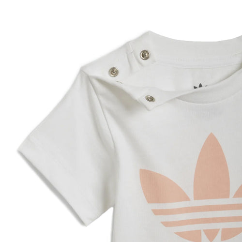 Adidas Baby & Toddler Clothing Sets - Shorts/Tee Set - White/Glow Pink