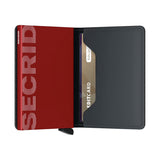 Secrid Unisex Wallets - Slimwallet - Matte Black & Red