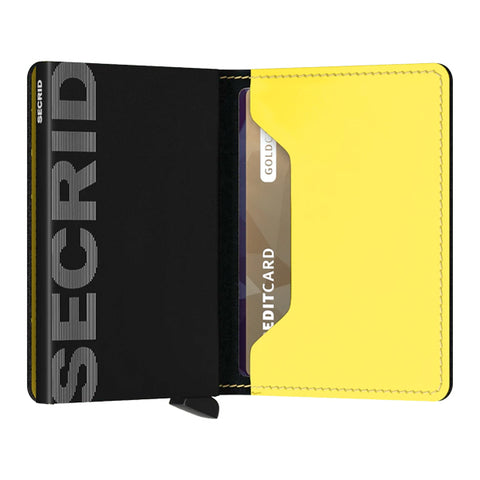 Secrid Unisex Wallets - Slimwallet - Matte Black & Yellow
