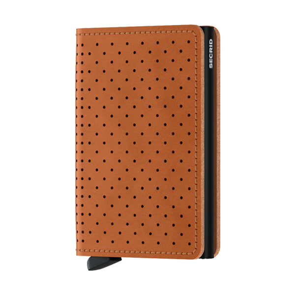Secrid Unisex Wallets - Slimwallet - Perforated Cognac