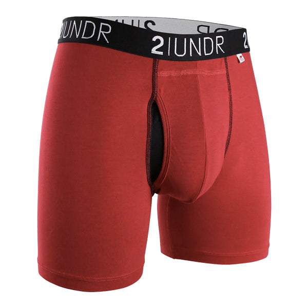 2UNDR Men's Underwear - Swing Shift - Red/Red