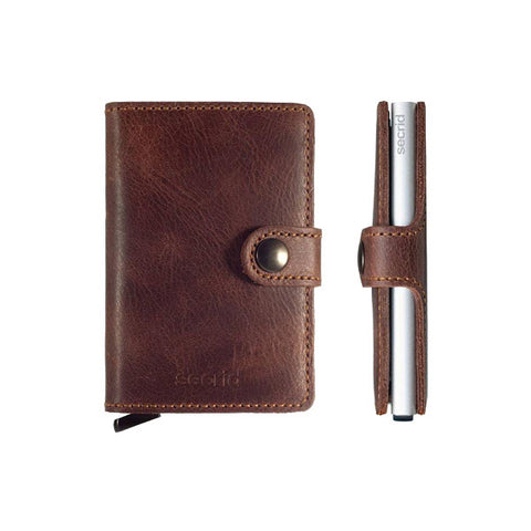 Secrid Unisex Wallets - Miniwallet - Vintage Brown