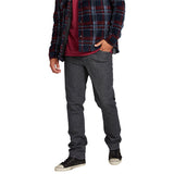 Volcom Men's Jeans - Vorta Denim Slim Straight - Dark Grey
