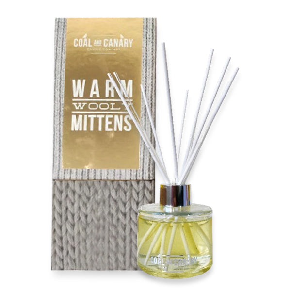 Coal and Canary Diffuser - Warm Wooly Mittens Reed Diffuser - 4oz