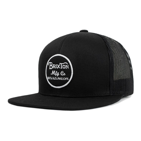 Brixton Men's Hats - Wheeler Mesh Snapback - Black