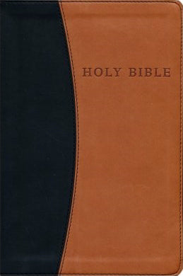 KJV Personal Size Giant Print Reference Bible-Black/Tan Flexisoft