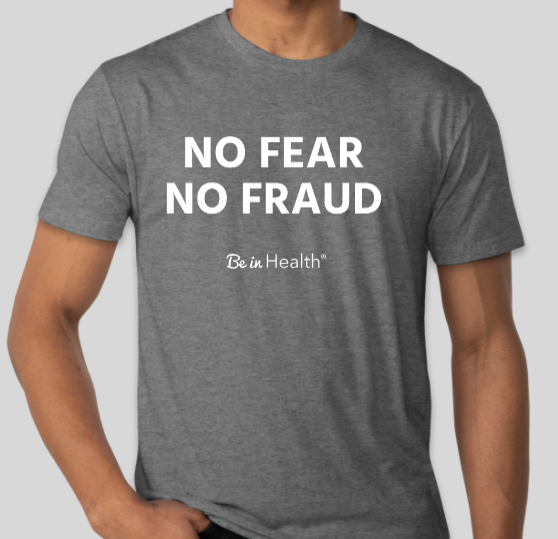 No Fear, No Fraud - Adult T-Shirt - Gray
