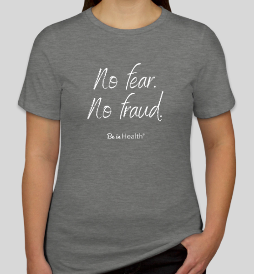 No Fear, No Fraud - Junior T-Shirt - Gray