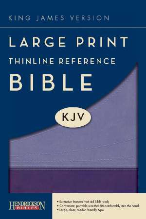KJV Large Print Thinline Bible - Purple Flexisoft Binding