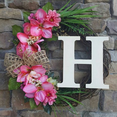 Pink Paradise Grapevine Wreath