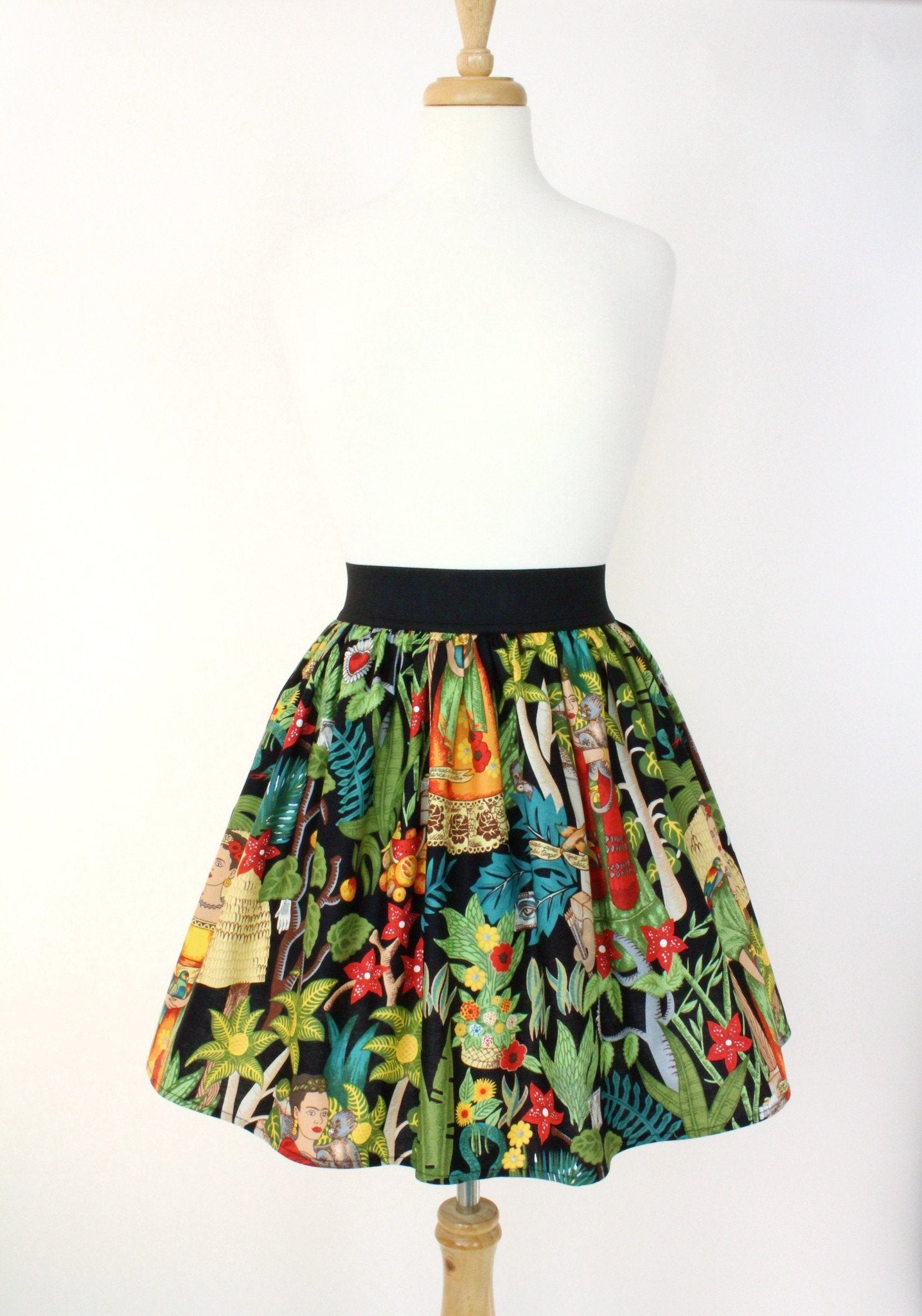 e0b552ad4 ... Load image into Gallery viewer, Black Frida Kahlo Skirt ...