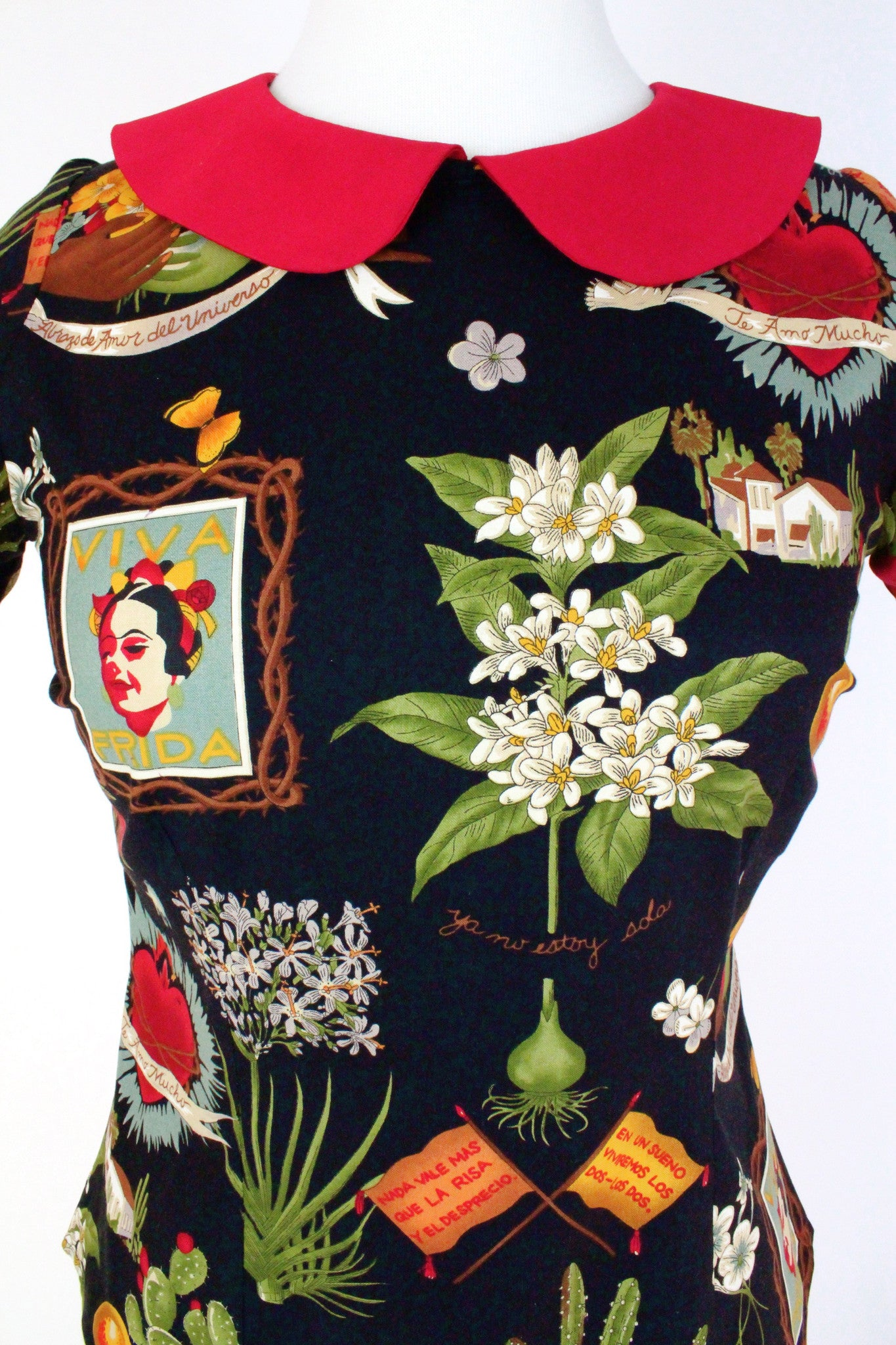 a4508362b ... Load image into Gallery viewer, Frida Kahlo Vintage Inpired Top ...