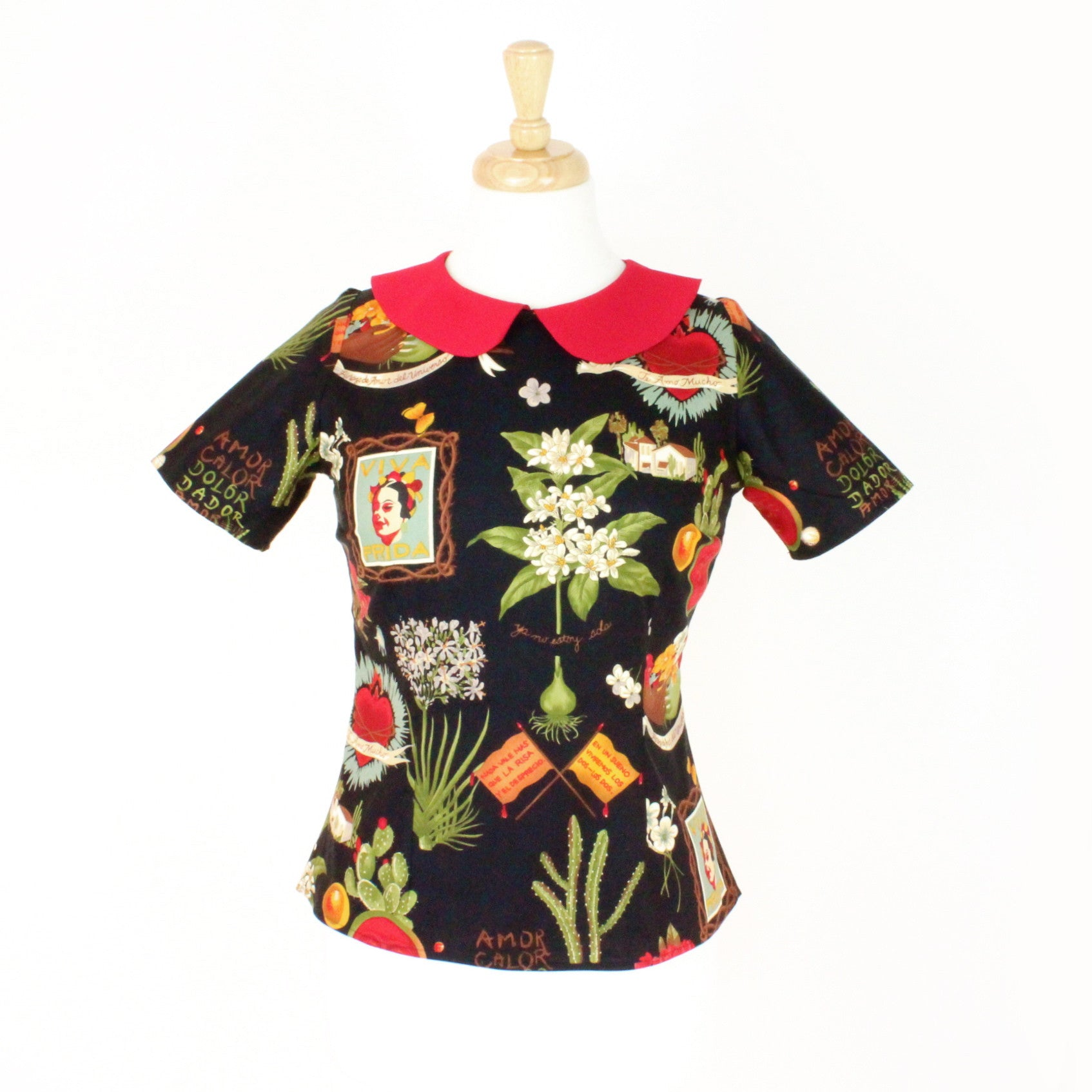 e83a8b60f Load image into Gallery viewer, Frida Kahlo Vintage Inpired Top ...