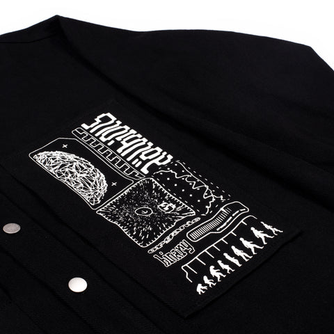 Organic Binary Work Shirt Obsidian