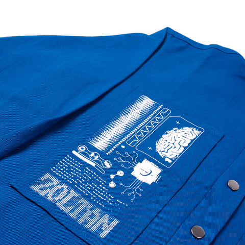 Organic Binary Work Shirt Blue