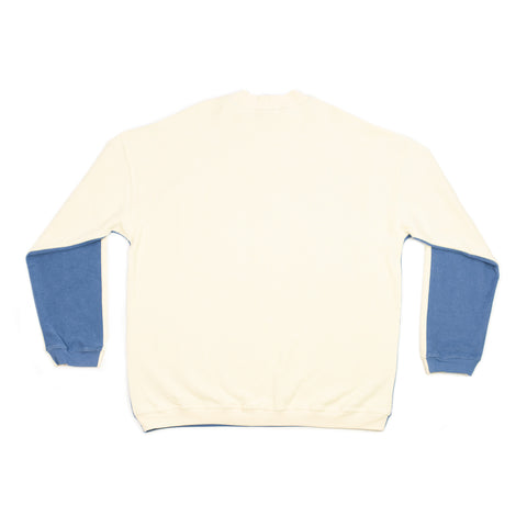 DBZD Two Tone Sweater Sky/Cream