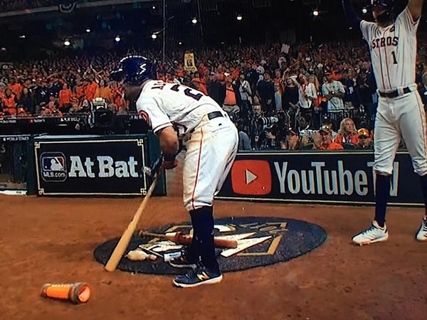 Tiger Stick baseball sports grip bat wax  used in World Series game shown here by Houston Astros but also by the Dodgers...winning teams use the only the best! bat wax baseball bat grip