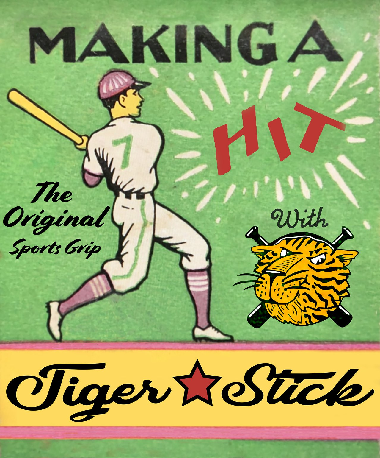 tiger stick bat wax baseball grip