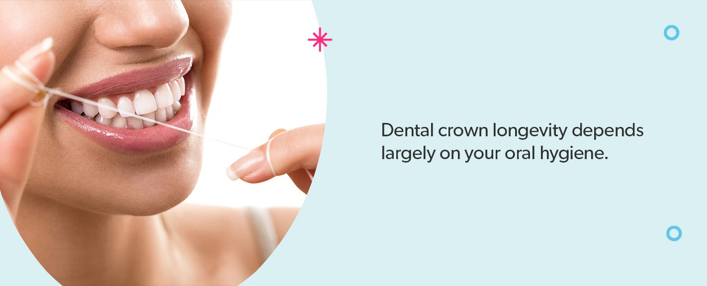 Dental crown longevity depends largely on your oral hygiene.