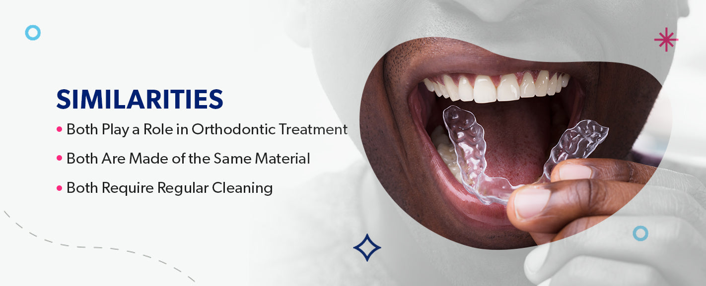 Similarities Between Aligners and Retainers [list]