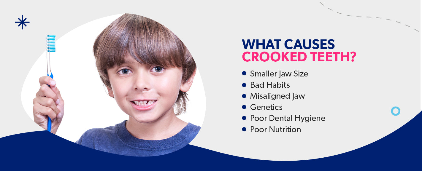 What causes crooked teeth? [list]