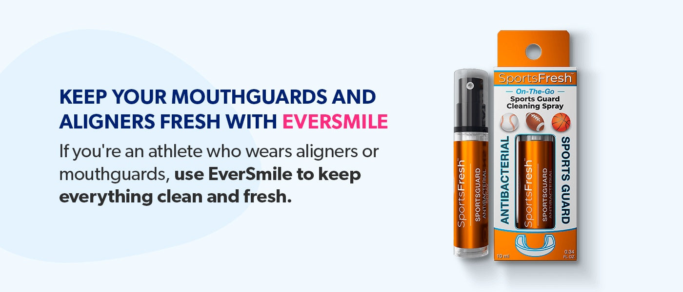 Keep your mouthguards and aligners fresh with EverSmile.