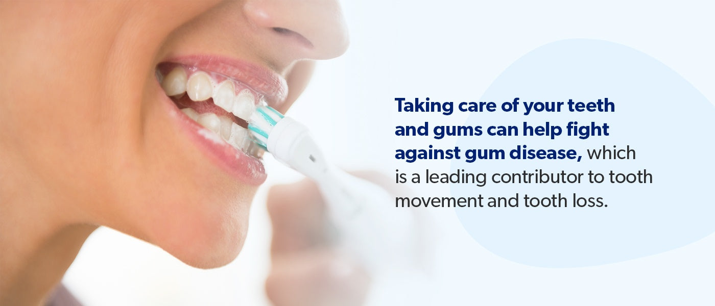 Taking care of your teeth and gums can help fight against gum disease