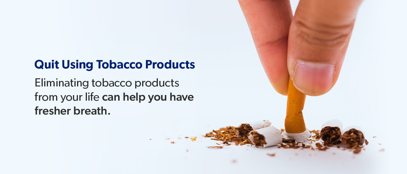 Quit Using Tobacco Products