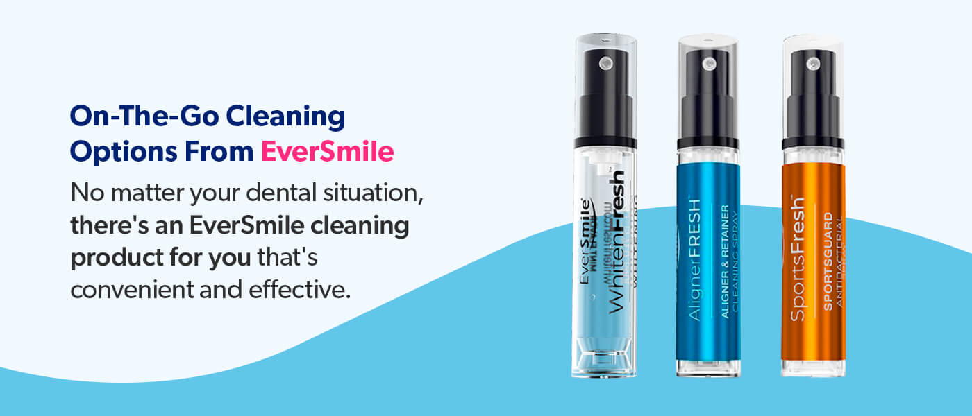 Shop on-the-go cleaning options from EverSmile