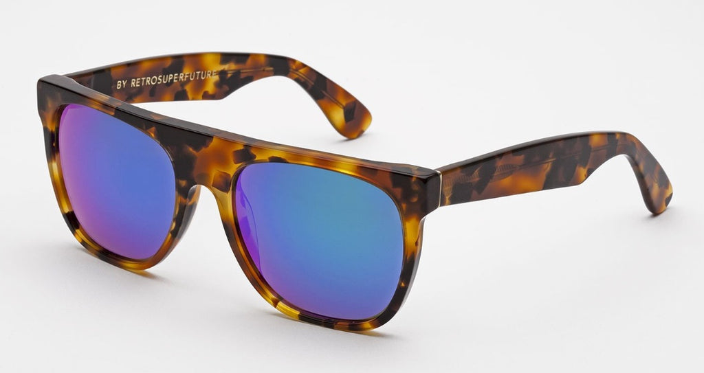 RetroSuperFuture Sunglasses Flat Top Cove Havana