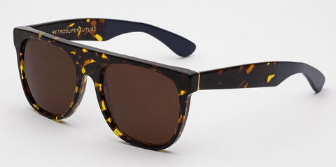 RetroSuperFuture Sunglasses Flat Top Laca Y Tortoise