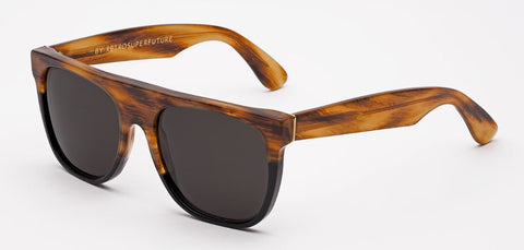 RetroSuperFuture Sunglasses Flat Top Havana&Black