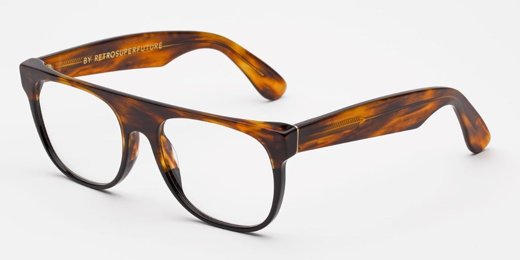 RetroSuperFuture Eyeglasses Flat Top Optical Classic Havana