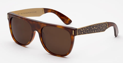 RetroSuperFuture Sunglasses Flat Top Francis Leopard