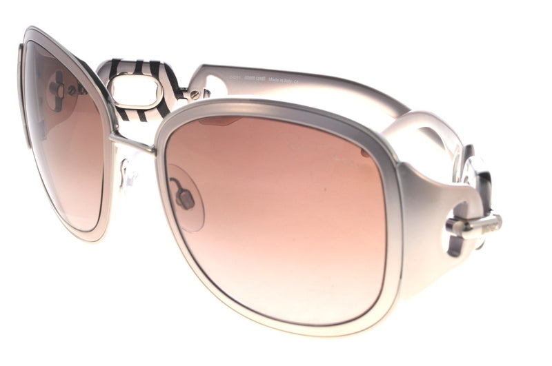 Roberto Cavalli Sunglasses Dalia silver with silver black striped detail RC 517S 18F