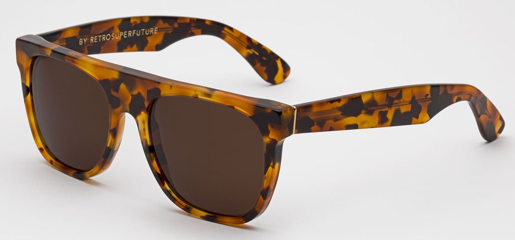 RetroSuperFuture Sunglasses Flat Top Dark Havana