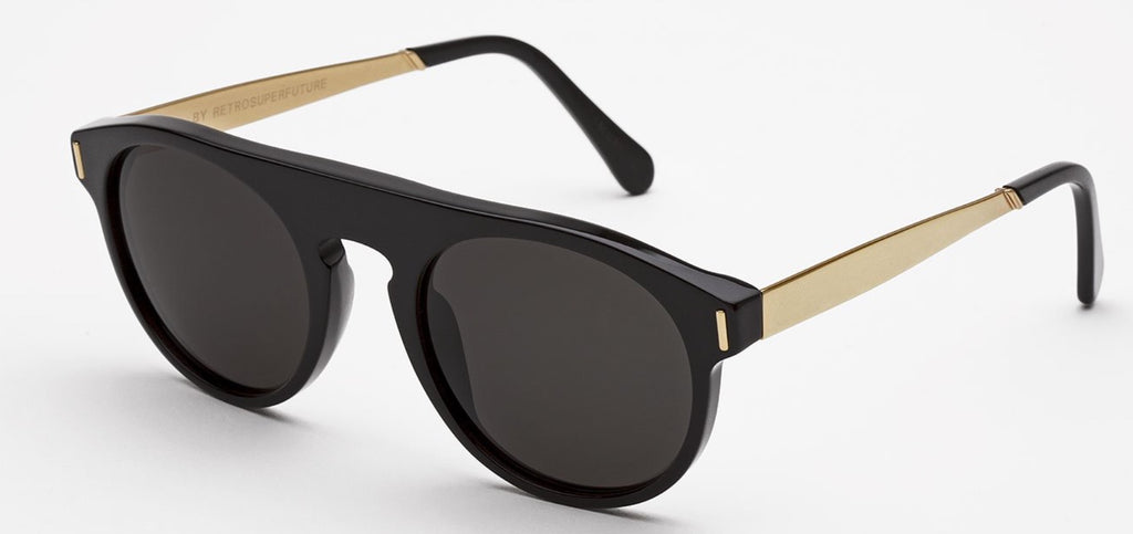 RetroSuperFuture Sunglasses Racer Francis Black Gold
