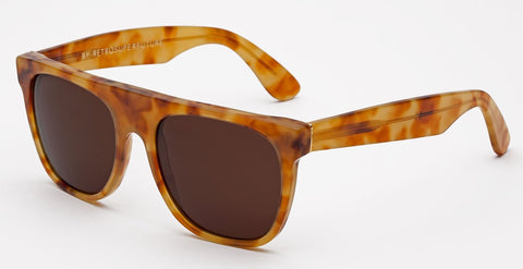 RetroSuperFuture Sunglasses Flat Top Vintage Havana