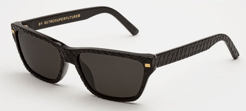 RetroSuperFuture Sunglasses Novanta Black Goffrato