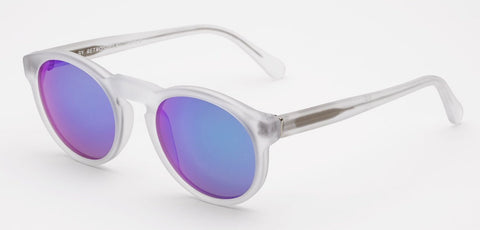 RetroSuperFuture Sunglasses Riviera Crystal Flash Matte Polarised lenses