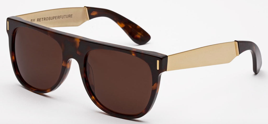 RetroSuperFuture Sunglasses Flat Top Francis Havana